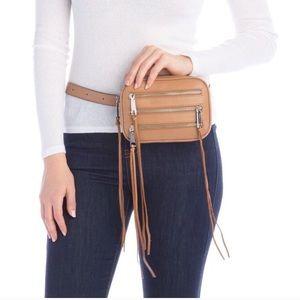 Rebecca Minkoff Leather 3 Zip Belt Bag